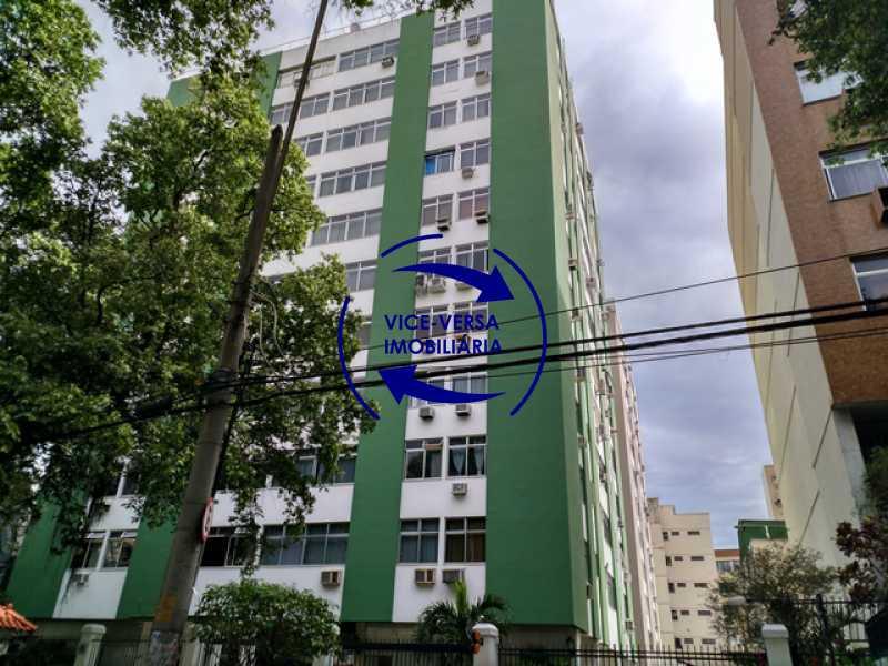 fachada - Apartamento 2 quartos À venda na Tijuca - colado À Praça Saens Pena, comércio, bancos e metrô! Box blindex, quarto de empregada revertido! - 1299 - 1