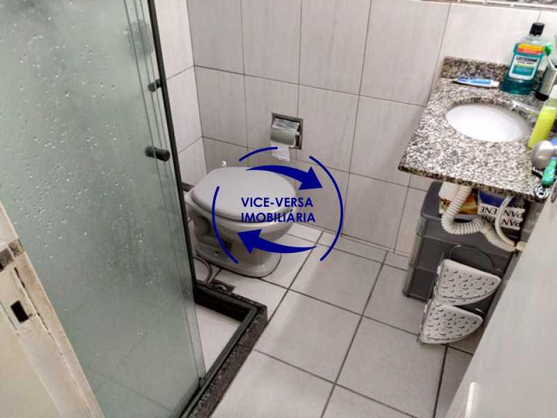 banheiro-social - Apartamento 2 quartos À venda na Tijuca - colado À Praça Saens Pena, comércio, bancos e metrô! Box blindex, quarto de empregada revertido! - 1299 - 17