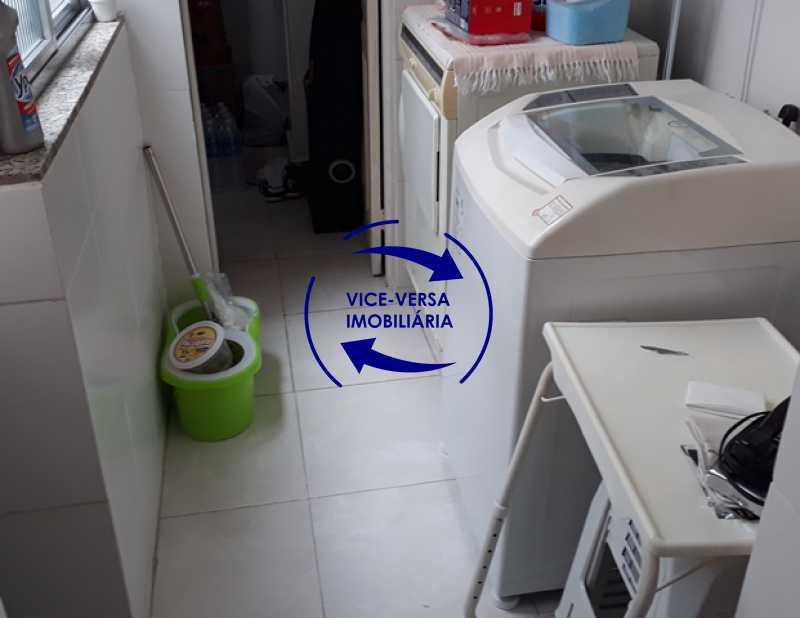 lavanderia - Apartamento À venda na Rua Amaral, próximo ao SESC Tijuca - sala 2 ambientes, lavabo, 3 quartos com armários, cozinha americana, lavanderia, quarto de empregada, vaga garantida! - 1305 - 25