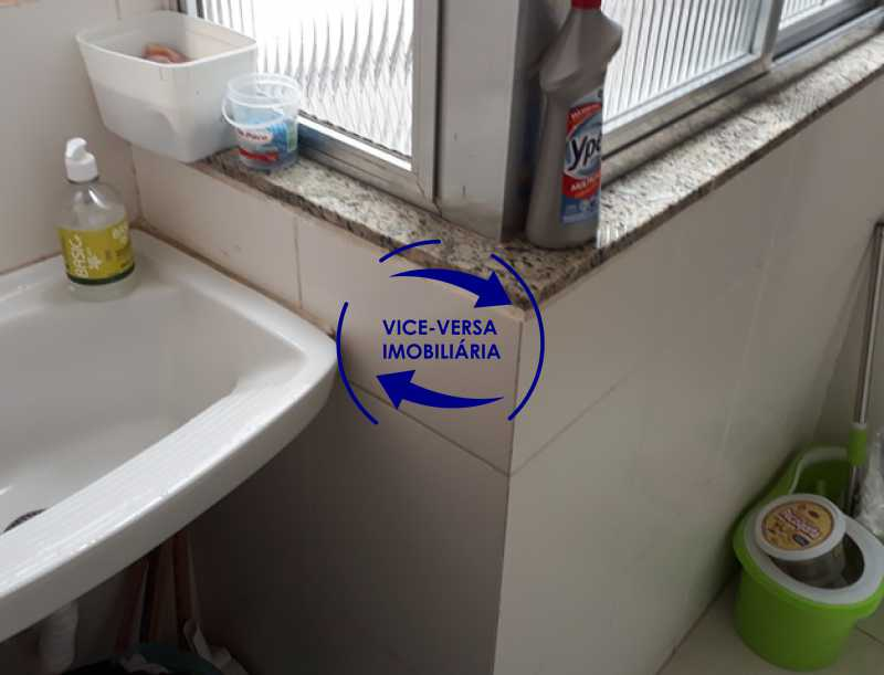 lavanderia - Apartamento À venda na Rua Amaral, próximo ao SESC Tijuca - sala 2 ambientes, lavabo, 3 quartos com armários, cozinha americana, lavanderia, quarto de empregada, vaga garantida! - 1305 - 24