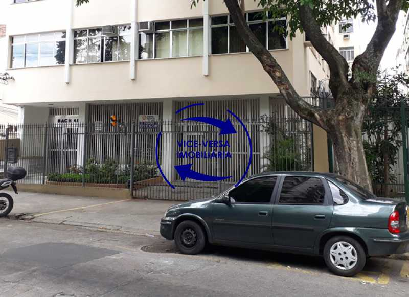 fachada - Apartamento À venda na Rua Amaral, próximo ao SESC Tijuca - sala 2 ambientes, lavabo, 3 quartos com armários, cozinha americana, lavanderia, quarto de empregada, vaga garantida! - 1305 - 1