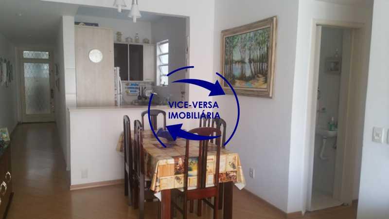 sala - Apartamento À venda na Rua Amaral, próximo ao SESC Tijuca - sala 2 ambientes, lavabo, 3 quartos com armários, cozinha americana, lavanderia, quarto de empregada, vaga garantida! - 1305 - 6