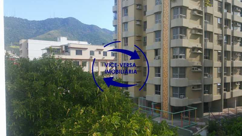 vista - Apartamento À venda na Rua Amaral, próximo ao SESC Tijuca - sala 2 ambientes, lavabo, 3 quartos com armários, cozinha americana, lavanderia, quarto de empregada, vaga garantida! - 1305 - 8