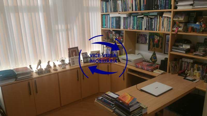 primeiro-quarto-home-office - Apartamento À venda na Rua Amaral, próximo ao SESC Tijuca - sala 2 ambientes, lavabo, 3 quartos com armários, cozinha americana, lavanderia, quarto de empregada, vaga garantida! - 1305 - 11