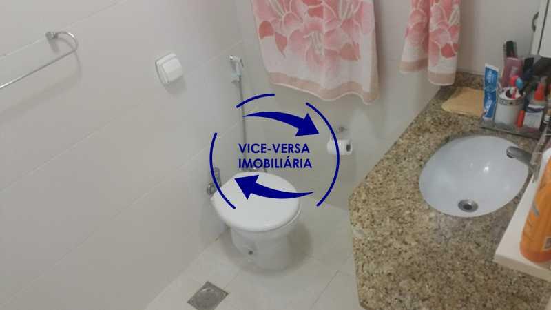 banheiro-social - Apartamento À venda na Rua Amaral, próximo ao SESC Tijuca - sala 2 ambientes, lavabo, 3 quartos com armários, cozinha americana, lavanderia, quarto de empregada, vaga garantida! - 1305 - 19