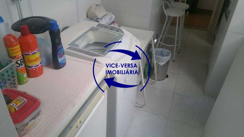 lavanderia - Apartamento À venda na Rua Amaral, próximo ao SESC Tijuca - sala 2 ambientes, lavabo, 3 quartos com armários, cozinha americana, lavanderia, quarto de empregada, vaga garantida! - 1305 - 26