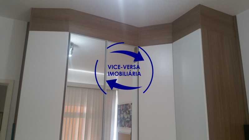segundo-quarto - Apartamento À venda na Rua Amaral, próximo ao SESC Tijuca - sala 2 ambientes, lavabo, 3 quartos com armários, cozinha americana, lavanderia, quarto de empregada, vaga garantida! - 1305 - 14