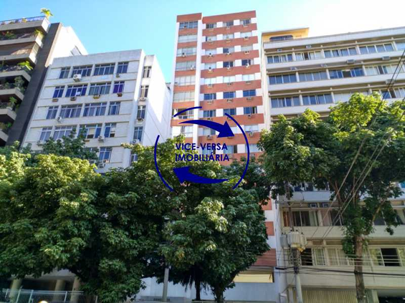 fachada - EXCLUSIVIDADE! Apartamento À venda na área mais nobre da Tijuca, próximo da Universidade Cândido Mendes - salão, sala íntima, lavabo, 3 quartos (suíte), dependências, vaga! - 1341 - 1