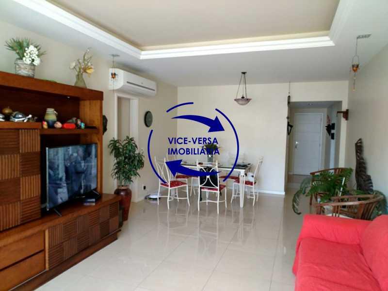 sala - EXCLUSIVIDADE! Apartamento À venda na área mais nobre da Tijuca, próximo da Universidade Cândido Mendes - salão, sala íntima, lavabo, 3 quartos (suíte), dependências, vaga! - 1341 - 6