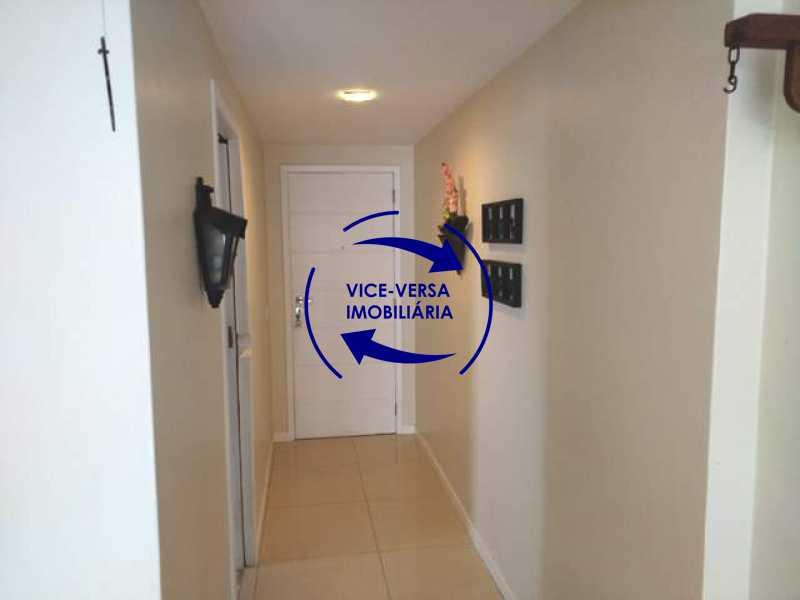 circulacao - EXCLUSIVIDADE! Apartamento À venda na área mais nobre da Tijuca, próximo da Universidade Cândido Mendes - salão, sala íntima, lavabo, 3 quartos (suíte), dependências, vaga! - 1341 - 9