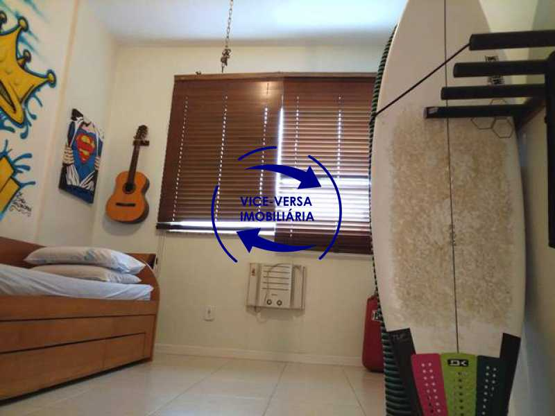 segundo-quarto - Apartamento À venda na área nobre da Rua Uruguai - Tijuca, próximo da Universidade Cândido Mendes - salão, sala íntima, lavabo, 3 quartos (suíte), dependências, vaga! - 1341 - 15