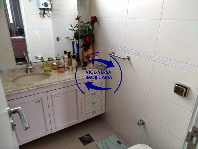 banheiro-da-suite - Apartamento À venda na área nobre da Rua Uruguai - Tijuca, próximo da Universidade Cândido Mendes - salão, sala íntima, lavabo, 3 quartos (suíte), dependências, vaga! - 1341 - 19