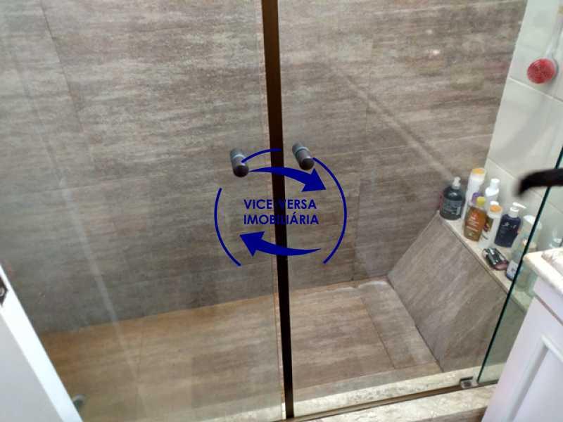 banheiro-da-suite-box - Apartamento À venda na área nobre da Rua Uruguai - Tijuca, próximo da Universidade Cândido Mendes - salão, sala íntima, lavabo, 3 quartos (suíte), dependências, vaga! - 1341 - 20