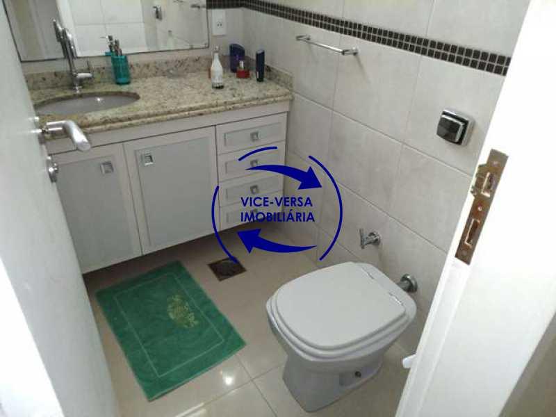 banheiro-social - EXCLUSIVIDADE! Apartamento À venda na área mais nobre da Tijuca, próximo da Universidade Cândido Mendes - salão, sala íntima, lavabo, 3 quartos (suíte), dependências, vaga! - 1341 - 21