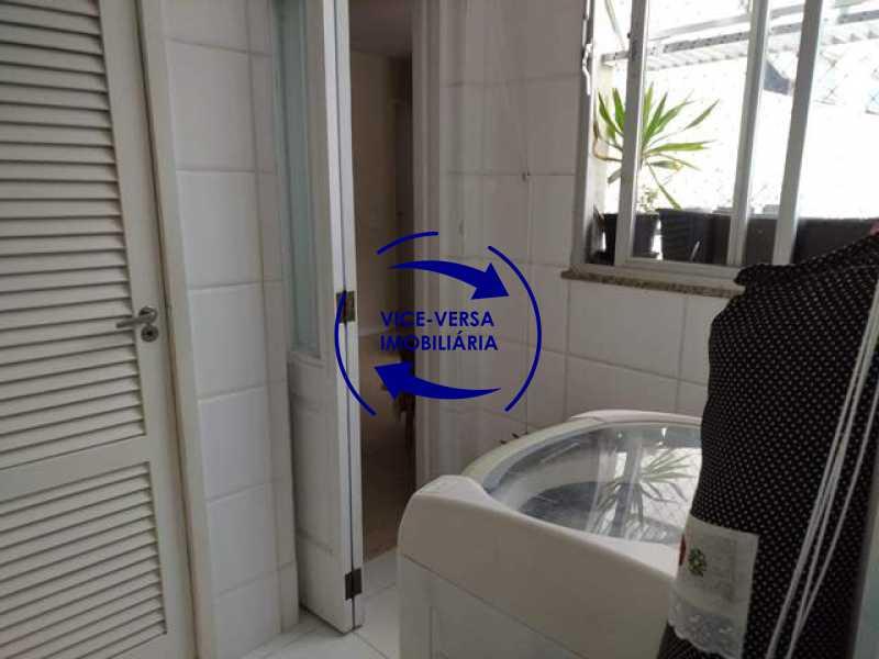lavanderia - EXCLUSIVIDADE! Apartamento À venda na área mais nobre da Tijuca, próximo da Universidade Cândido Mendes - salão, sala íntima, lavabo, 3 quartos (suíte), dependências, vaga! - 1341 - 27