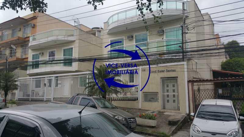 fachada - Casa triplex À venda em Vila Valqueire - sala, lavabo, 3 quartos, 1 suíte, copa-cozinha, piscina, 2 vagas de garagem. - 1352 - 3