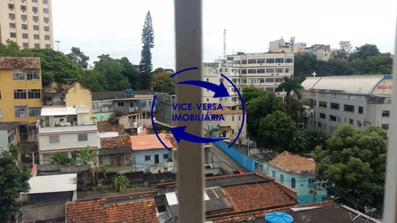 vista-da-janela - Ótimo apartamento, vazio, Rua do Parque, ao lado Quinta da Boa Vista, próximo Estação São Cristóvão (Metrô, Supervia). Sala, 2 quartos, vista livre, vaga, ótimo condomínio com segurança. - 1364 - 5