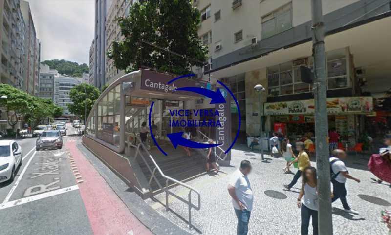 metro-estacao-cantagalo - Ótimo investimento! Apartamento com 100m², Rua Xavier da Silveira, 1 quadra da Praia de Copacabana, 2 quadras do Metrô Cantagalo. Sala, 3 quartos com dependências completas de empregada. - 1363 - 6