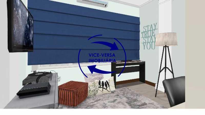 segundo-quarto-simulacao - Ótimo investimento! Apartamento com 100m², Rua Xavier da Silveira, 1 quadra da Praia de Copacabana, 2 quadras do Metrô Cantagalo. Sala, 3 quartos com dependências completas de empregada. - 1363 - 21