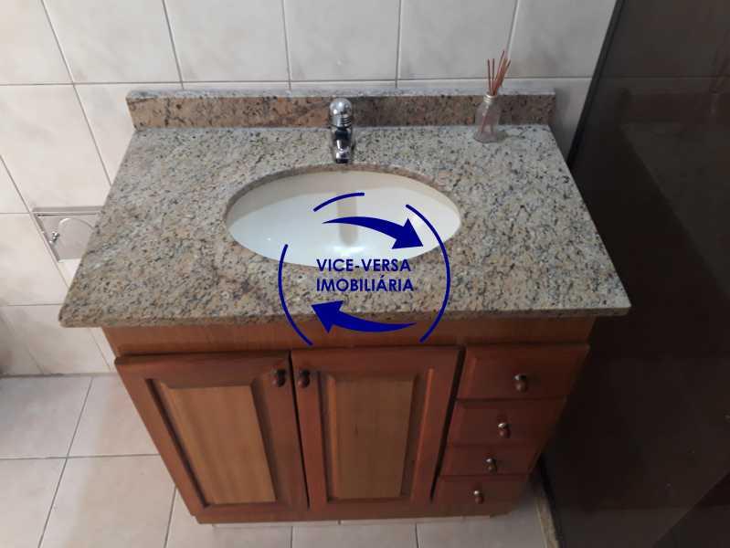 09_banheiro social - Apartamento tipo casa em Cascadura, próximo À Rua Carolina Machado (estação), sala e quarto com quarto de empregada - 56m² - 1370 - 10