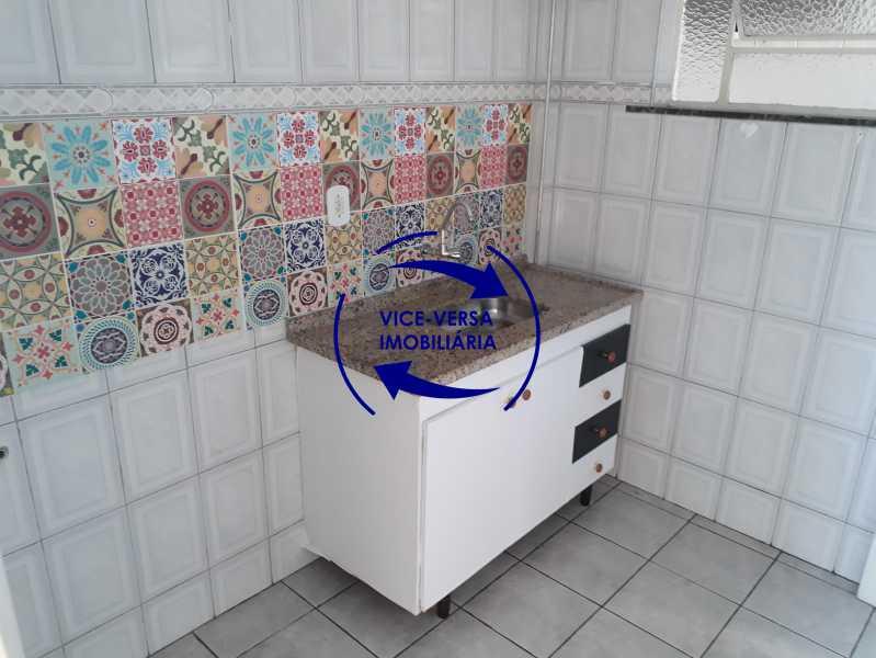 11_cozinha - Apartamento tipo casa em Cascadura, próximo À Rua Carolina Machado (estação), sala e quarto com quarto de empregada - 56m² - 1370 - 12