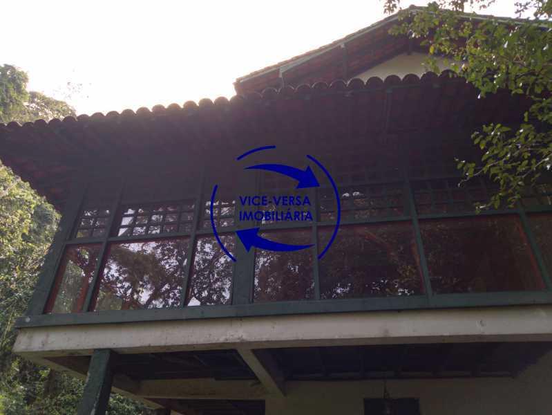Fachada - Ótima casa na parte nobre da Gávea em condomínio fechado no meio do verde com 308m² - 1377 - 21