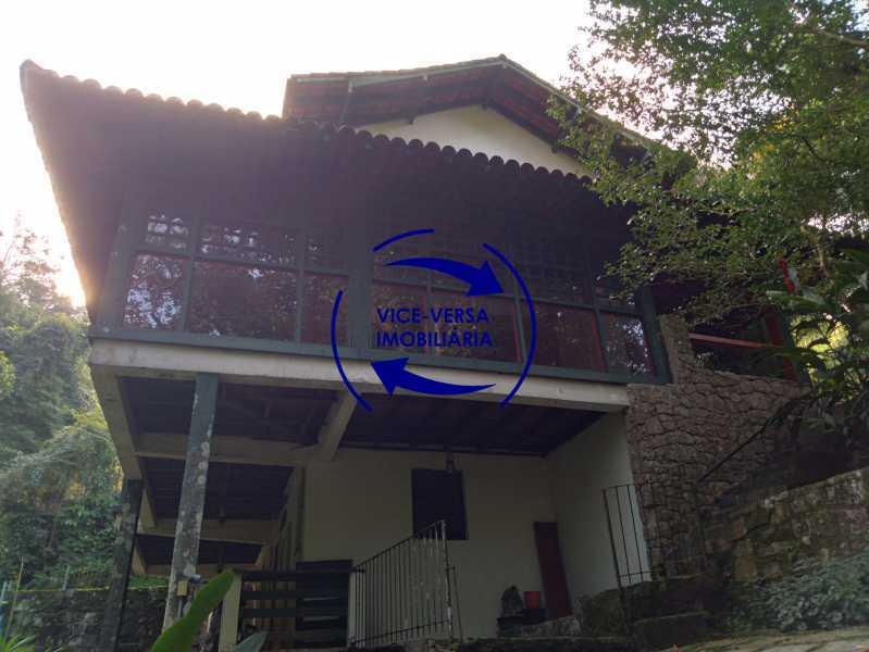 Fachada - Ótima casa na parte nobre da Gávea em condomínio fechado no meio do verde com 308m² - 1377 - 22