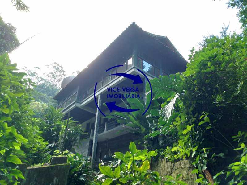 Vista lateral - Ótima casa na parte nobre da Gávea em condomínio fechado no meio do verde com 308m² - 1377 - 23