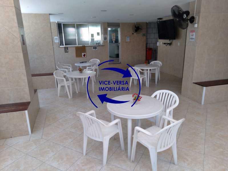 22-Salão - Excelente apartamento na Rua Ribeiro Guimarães -Tijuca, com 67m² em condomínio com ótima infraestrutura, situado a menos de 5 min andando do shopping Tijuca. Monitoramento por câmeras e portaria 24hs. - 1388 - 26