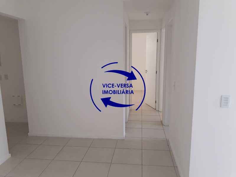 Circulação - Apartamento À venda no Pechincha - 69m², sala para 2 ambientes, varanda, 3 quartos, sendo 1 menor adequado para escritório, 2 banheiros, vaga de garagem, infraestrutura completa! - 1396 - 7