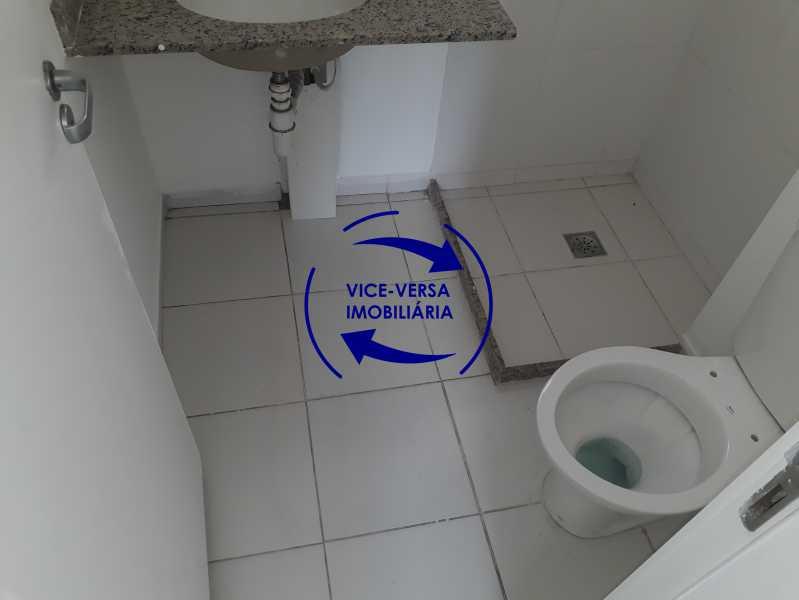 Banheiro 2 - Apartamento À venda no Pechincha - 69m², sala para 2 ambientes, varanda, 3 quartos, sendo 1 menor adequado para escritório, 2 banheiros, vaga de garagem, infraestrutura completa! - 1396 - 12