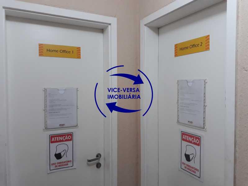 Salas de Home office - Apartamento À venda no Pechincha - 69m², sala para 2 ambientes, varanda, 3 quartos, sendo 1 menor adequado para escritório, 2 banheiros, vaga de garagem, infraestrutura completa! - 1396 - 20