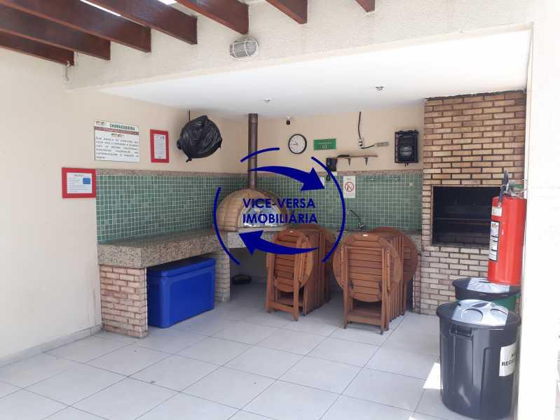 Churrasqueira - Apartamento À venda no Pechincha - 69m², sala para 2 ambientes, varanda, 3 quartos, sendo 1 menor adequado para escritório, 2 banheiros, vaga de garagem, infraestrutura completa! - 1396 - 18