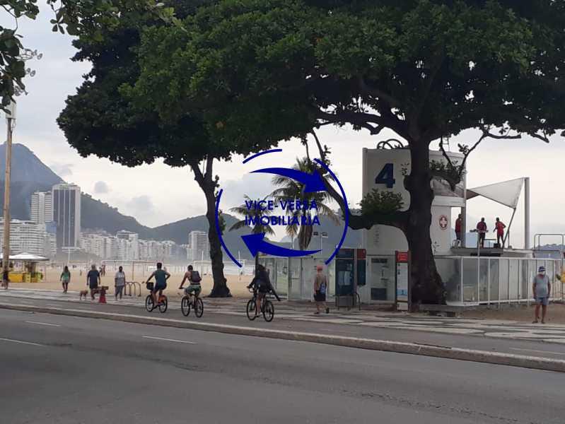 Praia - Belíssimo apartamento À venda na Rua Leopoldo Miguez - Copacabana - 110m², 3 amplos quartos repletos de armários, garagem, 350m da praia e 400m do metrô Cantagalo. - 1399 - 29