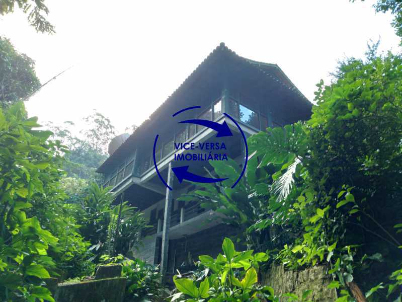 Vista interna - Gávea, parte nobre, Rua João Borges, casa com 308m² em condomínio fechado, em meio ao verde. - 1377-A - 1