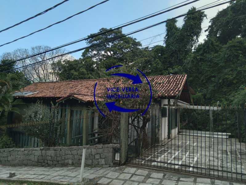 Fachada - Gávea, parte nobre, Rua João Borges, casa com 308m² em condomínio fechado, em meio ao verde. - 1377-A - 3