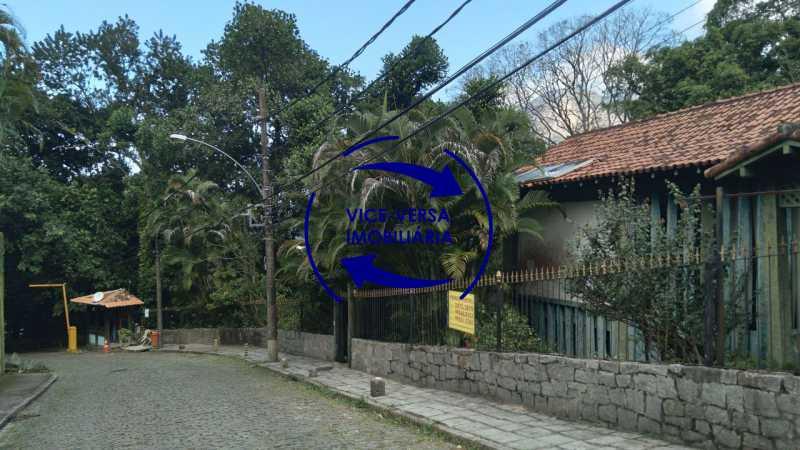 Fachada - Gávea, parte nobre, Rua João Borges, casa com 308m² em condomínio fechado, em meio ao verde. - 1377-A - 4
