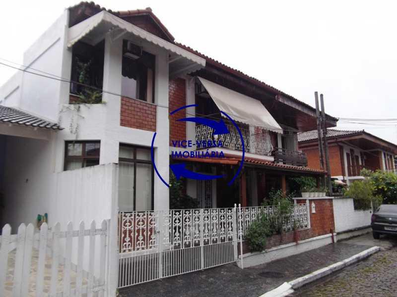 fachada - Anil, Estrada Uruçanga, casa, condomínio fechado, 3 salas, varanda, 3 quartos (1 suíte), lavabo, piscina, churrasqueira! - 1106 - 1