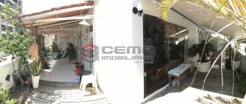 terraço - Cobertura 4 quartos à venda Botafogo, Zona Sul RJ - R$ 2.300.000 - LACO40056 - 5