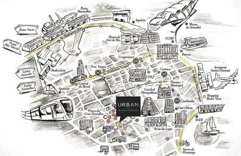 Urban Centro Mapa - Lançamento na Lapa - Rio de Janeiro - Ponto Turístico - LAAP10996 - 24