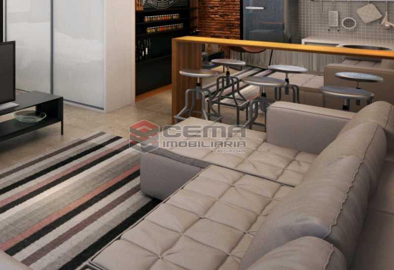 sala 3 - Apartamento 1 quarto à venda Centro RJ - R$ 350.000 - LAAP11087 - 1