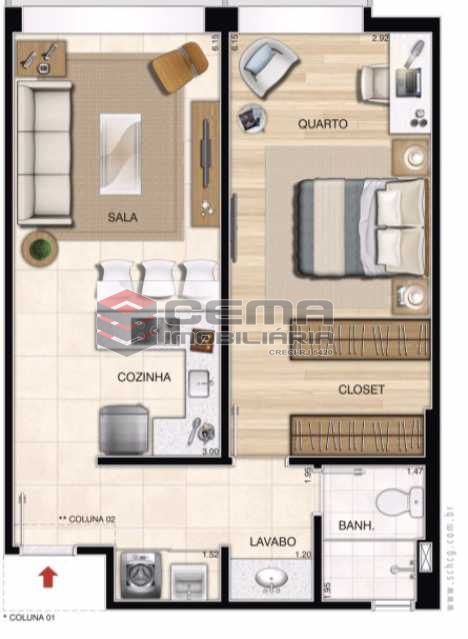 planta.JPG - Apartamento 1 quarto à venda Centro RJ - R$ 350.000 - LAAP11087 - 16