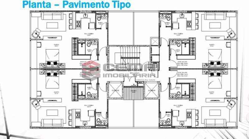 planta 3 - Apartamento 1 quarto à venda Centro RJ - R$ 350.000 - LAAP11087 - 27