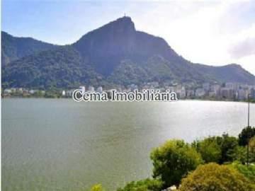 VISTA - Apartamento 4 quartos à venda Lagoa, Zona Sul RJ - R$ 3.000.000 - LA40423 - 3