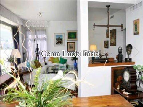 Sala foto 2 - Apartamento 4 quartos à venda Lagoa, Zona Sul RJ - R$ 3.000.000 - LA40423 - 4