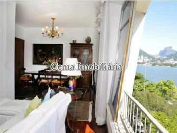 Sala foto 1 - Apartamento 4 quartos à venda Lagoa, Zona Sul RJ - R$ 3.000.000 - LA40423 - 1