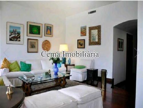 SALA ÂNG 3 - Apartamento 4 quartos à venda Lagoa, Zona Sul RJ - R$ 3.000.000 - LA40423 - 5