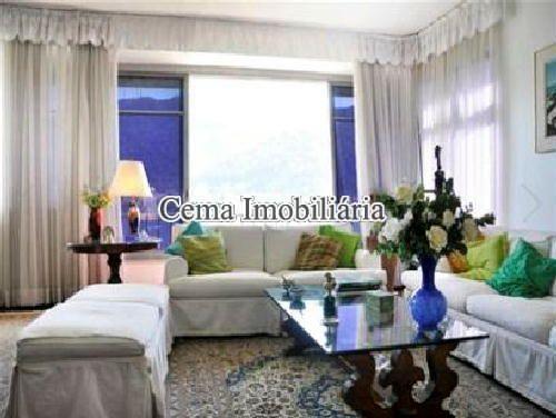 SALA ÂNG 4 - Apartamento 4 quartos à venda Lagoa, Zona Sul RJ - R$ 3.000.000 - LA40423 - 6
