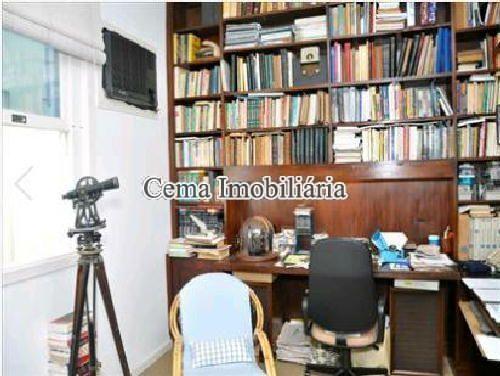 ESCRITÓRIO - Apartamento 4 quartos à venda Lagoa, Zona Sul RJ - R$ 3.000.000 - LA40423 - 9