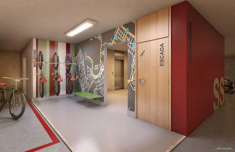 Perspectiva Bicicletario - Botafogo! Luxuoso 3 quartos(suíte), varanda, 2 vagas, Vista deslumbrante. - LAAP31659 - 25